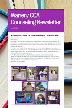 Warren/CCA Counseling Newsletter