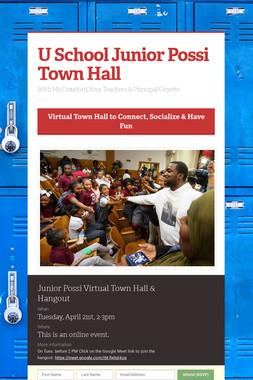 U School Junior Possi Town Hall