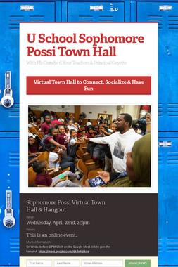 U School Sophomore Possi Town Hall