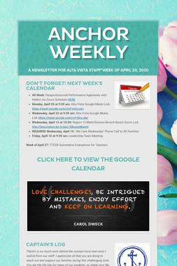 Anchor Weekly