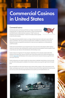 Commercial Casinos in United States