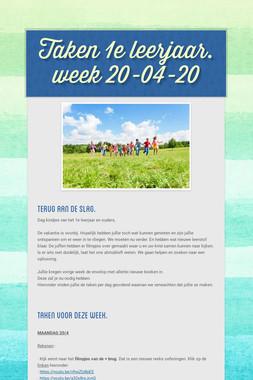 Taken 1e leerjaar. week 20-04-20
