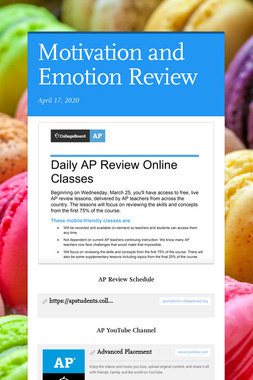 Motivation and Emotion Review