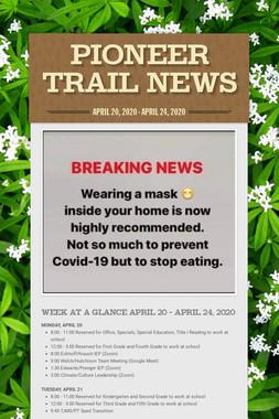 PIONEER TRAIL NEWS