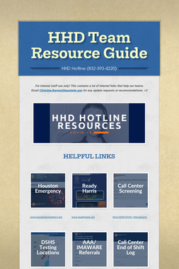 HHD Team Resource Guide