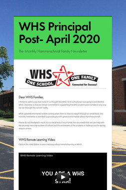 WHS Principal Post- April 2020
