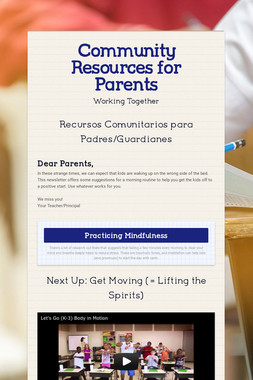 Community Resources for Parents