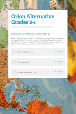 Orion Alternative Grades k-1