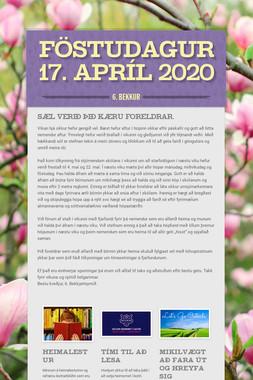 Föstudagur 17. apríl 2020
