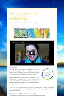 Acceptance & Adapting