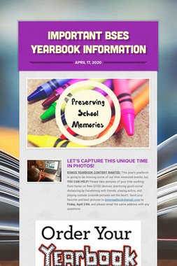 Important BSES Yearbook Information