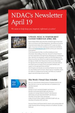 NDAC's Newsletter April 19
