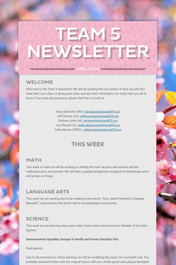 Team 5 Newsletter