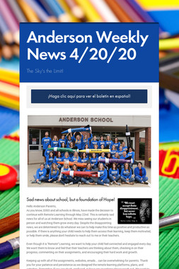 Anderson Weekly News 4/20/20
