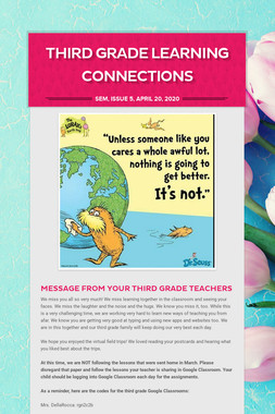 Third Grade Learning Connections