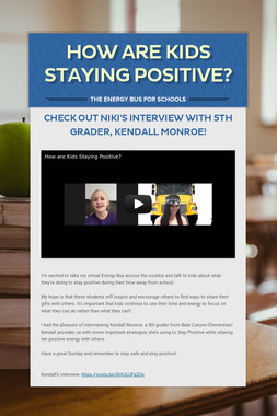 How Are Kids Staying Positive?