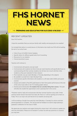 FHS Hornet News