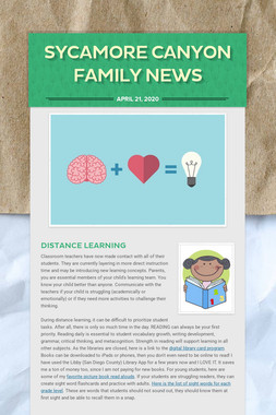 Sycamore Canyon Family News