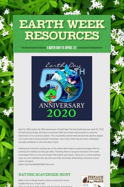 Earth Week Resources