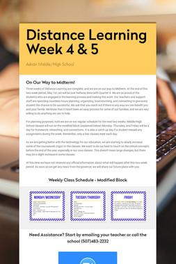 Distance Learning Week 4 & 5