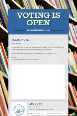 Voting is Open