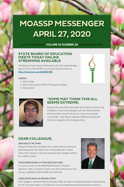 MoASSP Messenger April 27, 2020