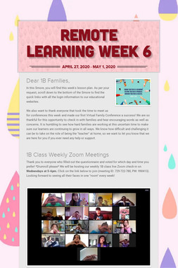 Remote Learning Week 6