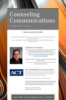 Counseling Communications