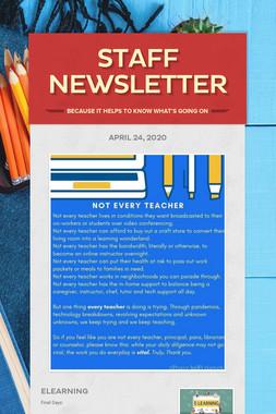 Staff Newsletter