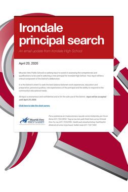 Irondale principal search