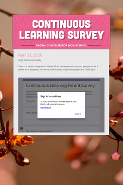 Continuous Learning Survey