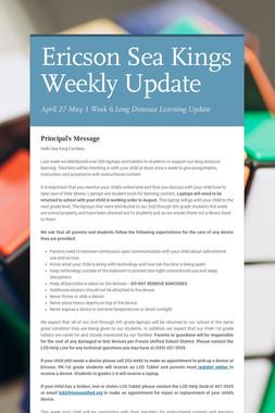Ericson Sea Kings Weekly Update