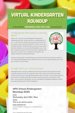Virtual Kindergarten Roundup