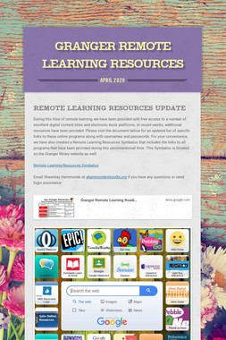 Granger Remote Learning Resources