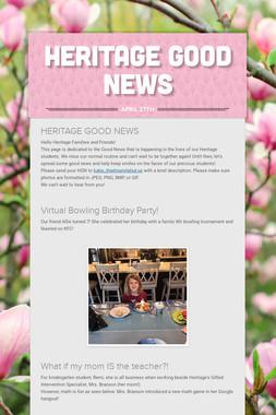 Heritage Good News
