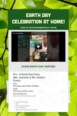 Earth Day Celebration at Home!