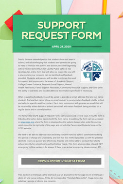 Support Request Form