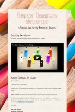 Muenster Elementary eNewsletter