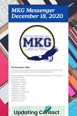 MKG Messenger April 21, 2020