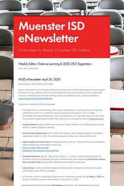 Muenster ISD eNewsletter