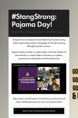 #StangStrong: Pajama Day!