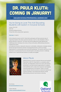 Dr. Paula Kluth    NOW (and later!)