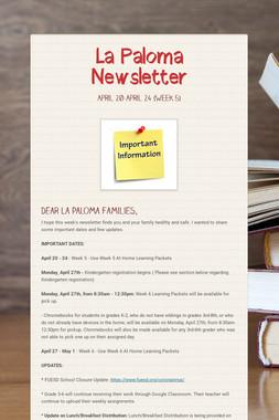 La Paloma Newsletter