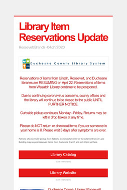 Library Item Reservations Update