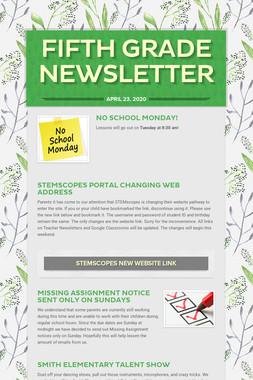 Fifth Grade Newsletter
