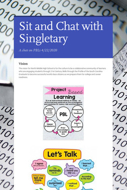 Sit and Chat with Singletary