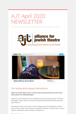 AJT April 2020 NEWSLETTER