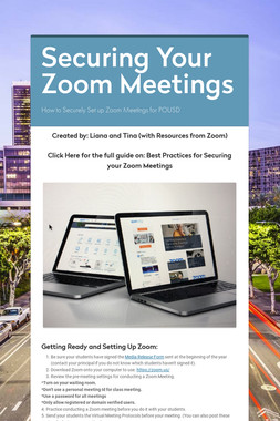 Securing Your Zoom Meetings