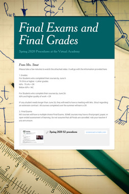 Final Exams and Final Grades