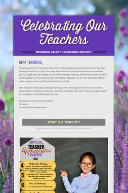 Celebrating Our Teachers